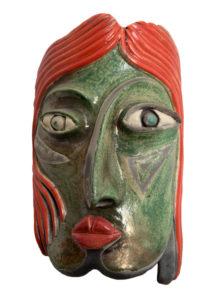 Glazed Mask..Burgess Liz