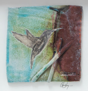 Humming Bird Tile I..Carty Ia n..€130