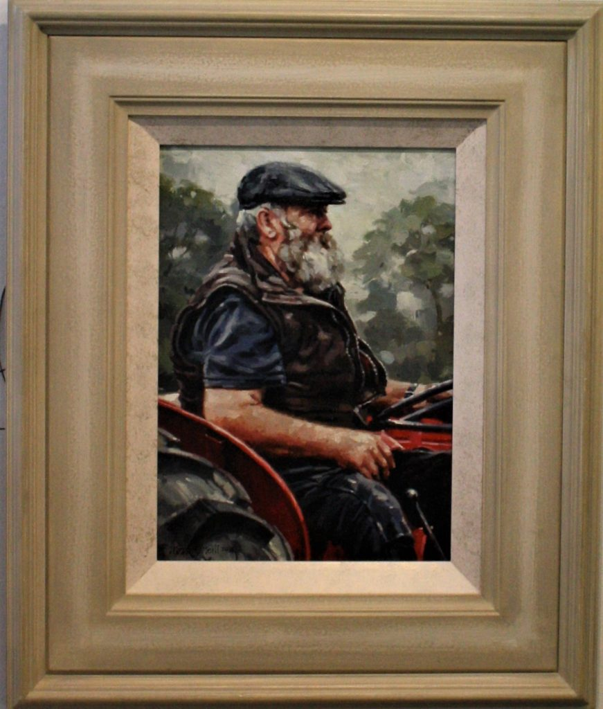 Willie….  Oil on Board by Mark O'Neill  44x31cm