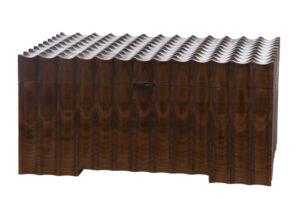 Walnut Fluted Jewelery Box..Fichtner Erich..€695t