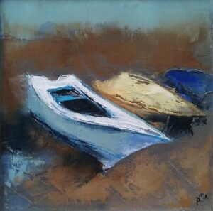 'Beached' 20x20cm oil on canvas