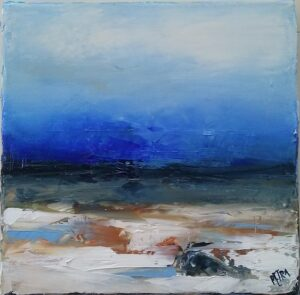'Winter Story I' 20x20cm oil on canvas