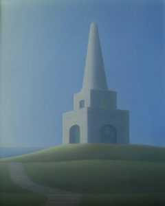 The Obelisk Oil on canvas 30cm by 25cm 10 inches by 12 inches a