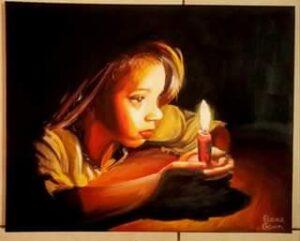 Elain Galvin...This Little Light of Mine..Acrylic on Canvas.€300