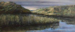 Joanne McAndrew....Light on the Dunes..Oil on Wood panel...€230