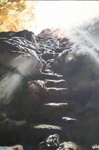 Warren Faye...Light. Oil on Mounted Wood....€200