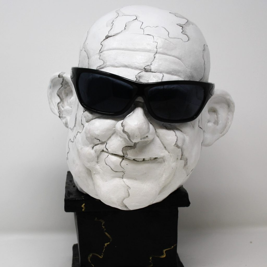The artist hates making Glasses Ceramic Sculpture by Brigit Beemster..Was €750  Now €450
