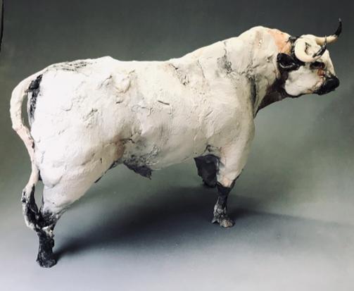 Bull…Ceramic Sculpture  by Ostinelli & Priest