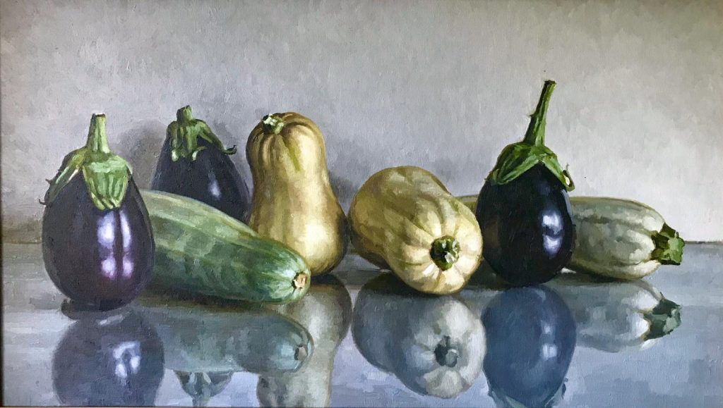 The Harvest….Oil on Board  by Mark O'Neill