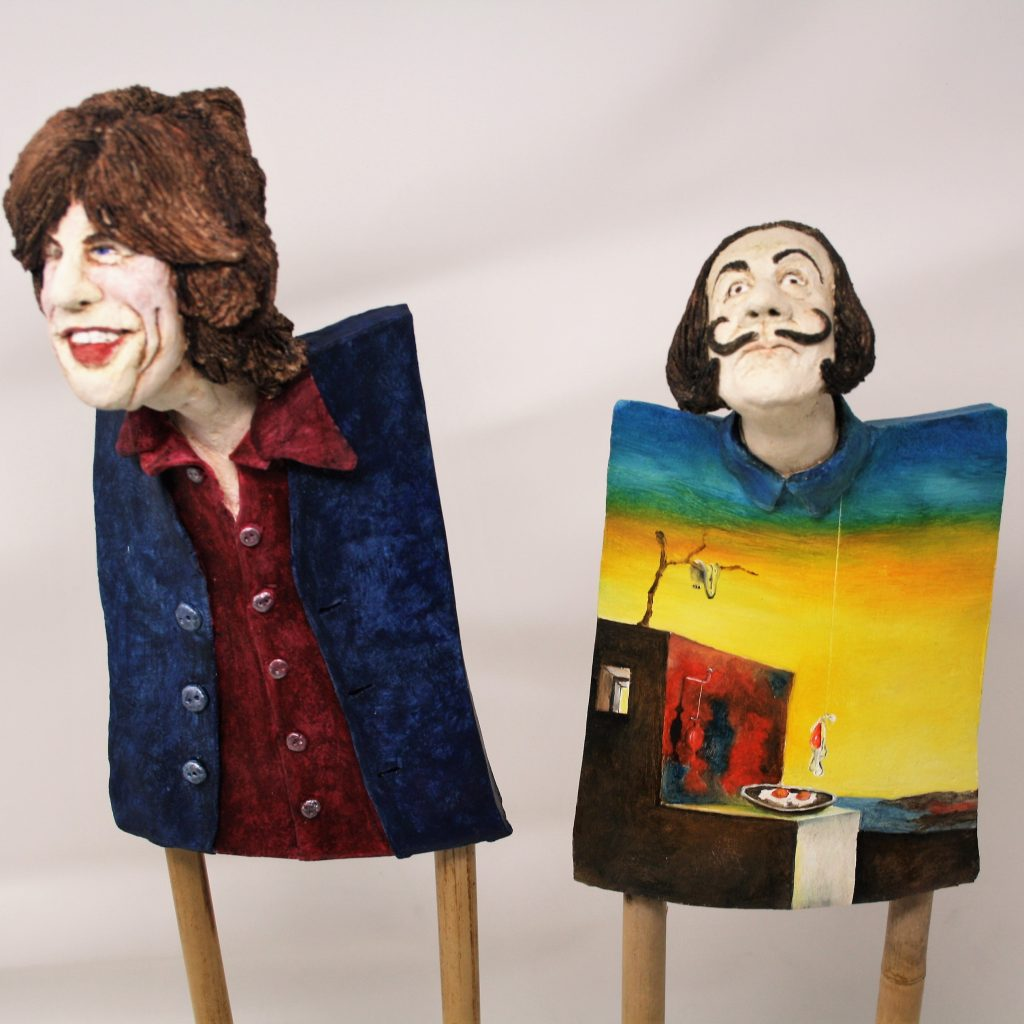 Mick meets Dali…Ceramic Sculptures by Brigit Beemster