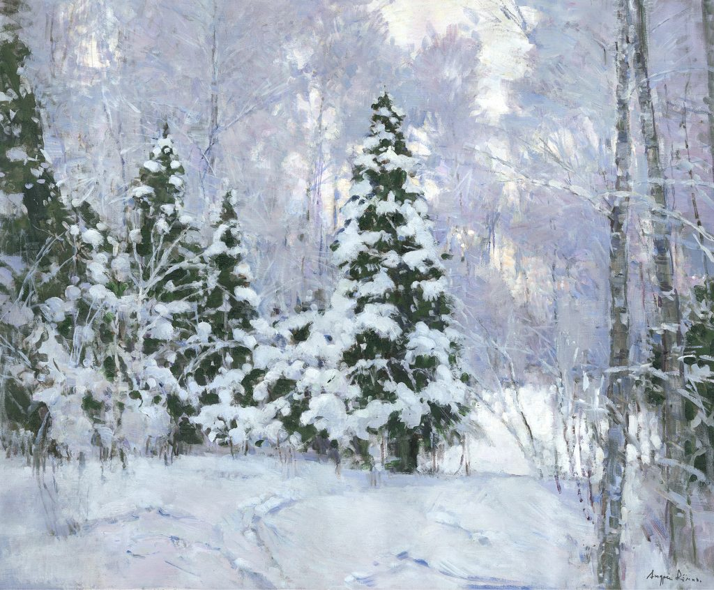 Winter…    oil on Canvas by Andrey Demin