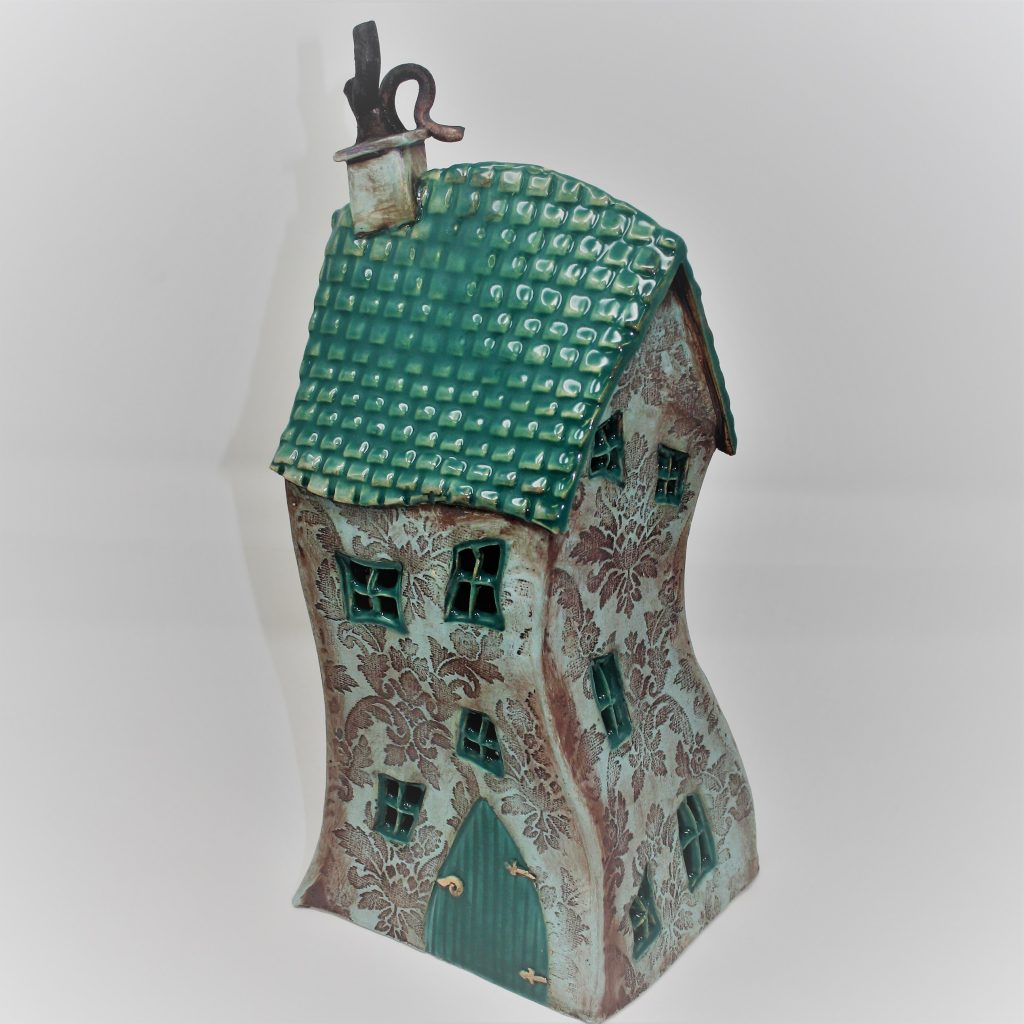 Green House….Ceramic Sculpture  by Sonja Guenther